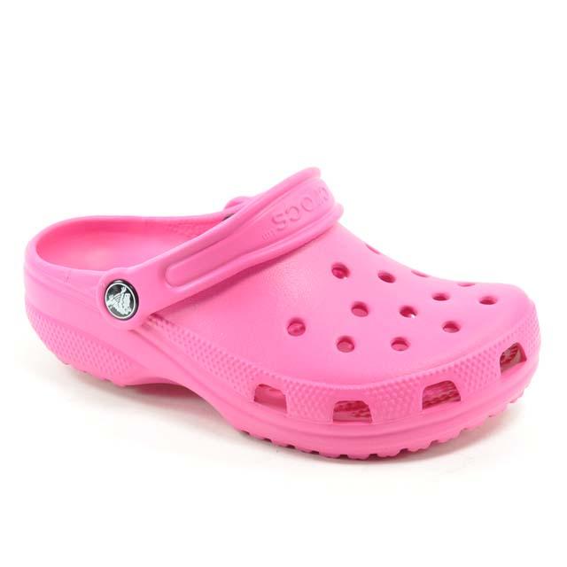 Pink & Fuschia Crocs Classic Kids Fuchsia