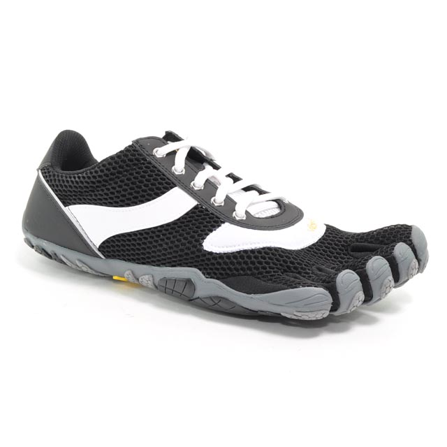 Schwarz Vibram Fivefingers Speed Black-White M