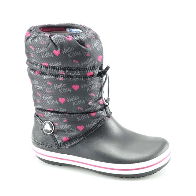 Schwarz Crocs Crocband Hello Kitty Winter Stiefel
