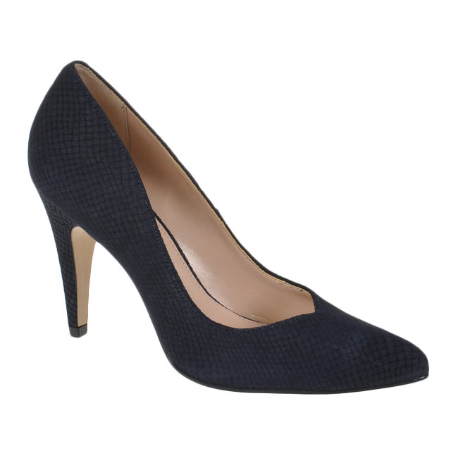 Blau Buffalo Nubuck Pumps