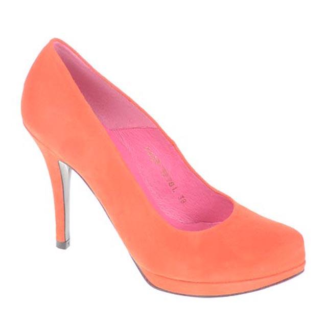 Orange,Pink & Fuschia Buffalo Absatzschuhe