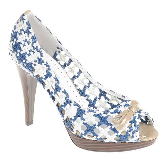 Blau,Multi,Weiss Caf�Noir Plateau Stiletto