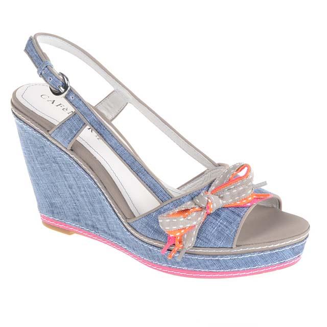 Blau Caf�Noir Wedges Schuhe