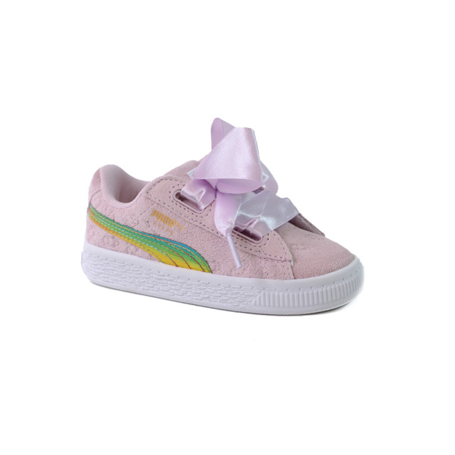 Puma Minion Suede Heart Fluffy Inf Taille 22   Enfants