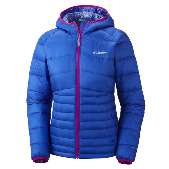 Blau Columbia Diamond 890 TurboDown Hooded Down JAcket