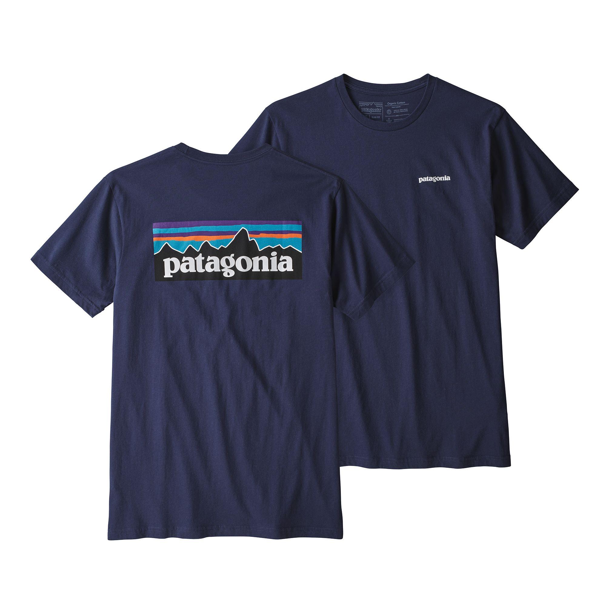 Patagonia P-6 Logo Organic T-Shirt - Classic Navy Blue | URBAN EXCESS.