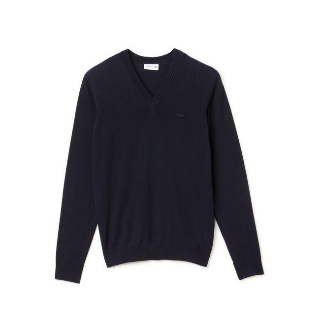 Image of Lacoste M's Pullover col en V Grösse 5 Herren